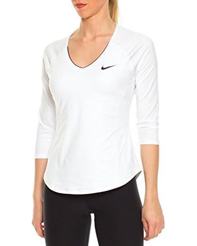 Nike Camiseta Manga Larga W Nkct Pure Top 3-4