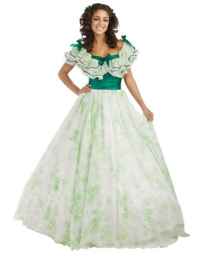 Womens Gone With The Wind Scarlet O'Hara Picnic Costume
