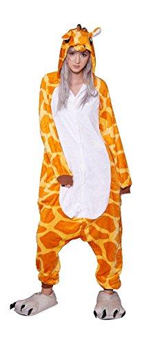 Toonsies Unisex Onesie Animal Cosplay Sleepwear & Lounge wear (M, Giraffe) (Bunny Onesies For Adults)