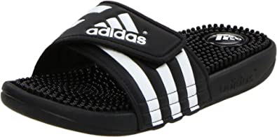 adidas Women's Adissage Sandal,Black/Black/White,3 M