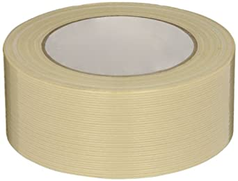 Intertape Fiberglass Reinforced Polyester Backed Filament Tape, Natural