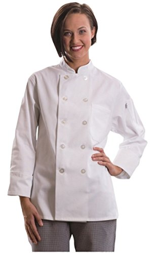 Uncommon Threads Women's Napa Chef Coat Medium White (Womens Chef Coats With Pockets compare prices)