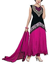 Jiya Women Net Dress(BTMDSZ901 ,Rani)