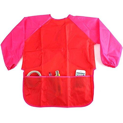 mal-impermeable-de-los-ninos-delantal-con-bolsillos-lavable-color-rojo-caja-de-limpiar-cierre-de-vel