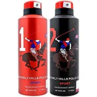 Beverly Hills Polo Club Combo Of 2 Deodorants No 1 & No 2 Men (175 Ml Each)