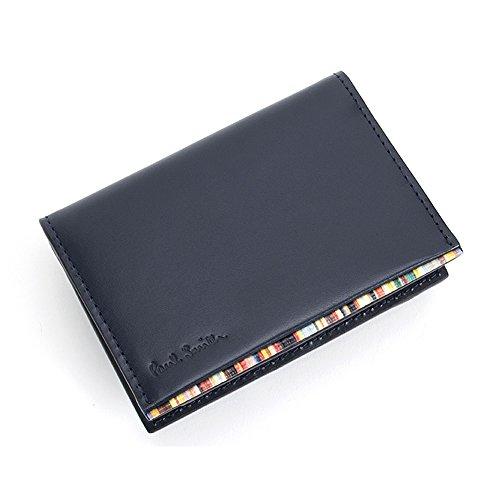 ポールスミス Paul Smith メンズ 本革 カードケース PSU054 牛革 マルチストライプ (ネイビー)