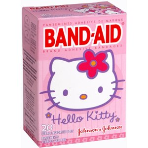 Special pack of 5 J and J Johnson and Johnson CONSUMER SECTOR BAND AID HELLO KITTY 20 per pack