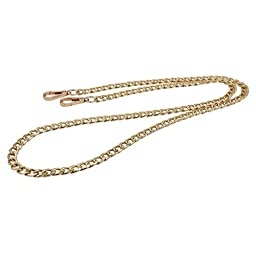 LGEGE 10MM Flat Metal Iron Chain for Handbag Quality Purse Replacement Strap Chain DIY Accessories Shoulder Straps Light Gold