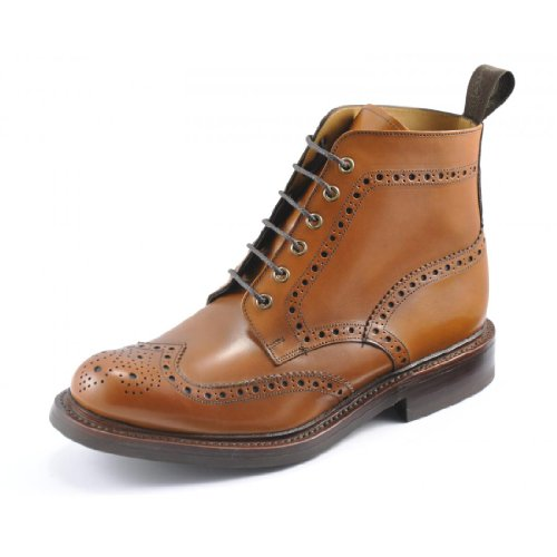 Loake Bedale Brogue Boot - Tan - 10.5