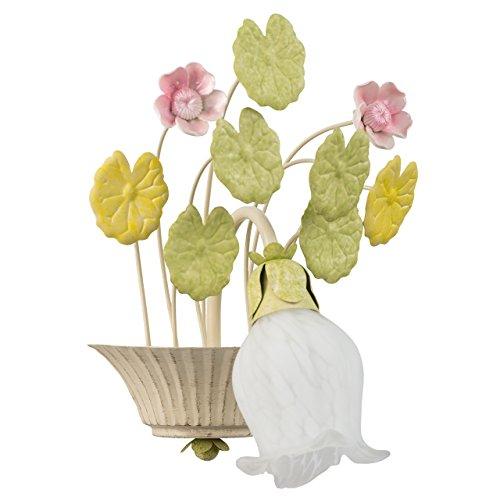 Applique style floral, romantique, magnifique, raffiné, armature en métal coloré en blanc en forme de fleur 1 ampoule non-incl. E14 1x40W 230V