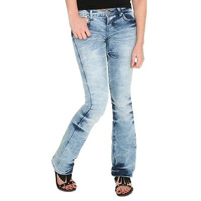 Amazon.com: Light Blue Bleach Tie Dye Flare Jeans