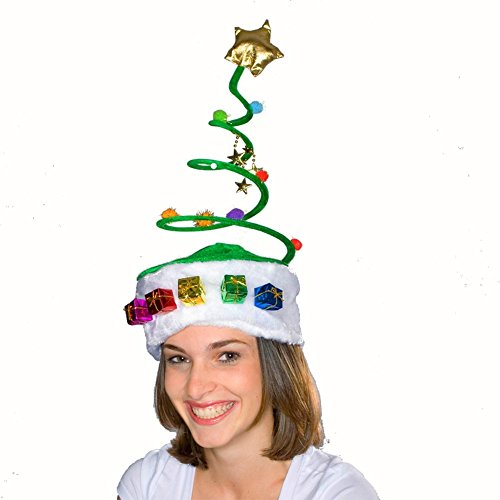 Christmas Tree Coil Spring Hat - 1
