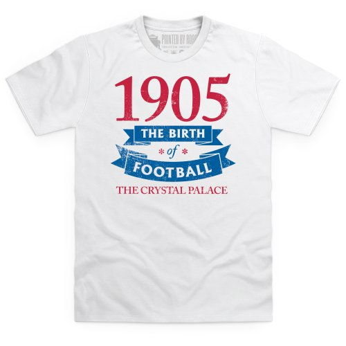 Crystal Palace - Birth of Football T Shirt, Mens, White, Small