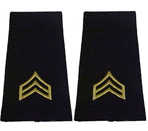 Army Uniform Epaulets - Shoulder Boards E-5 Sergeant (Shoulder Boards compare prices)