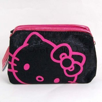 Hello-Kitty-Cosmetic-Hand-Bag-Make-up-Case-Black