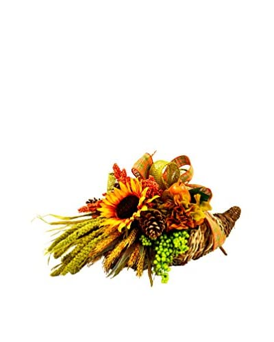 Creative Displays Pear & Pinecone Cornucopia, Orange/Yellow/Green/Brown