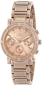 Invicta Women's 14874 Wildflower Rose Gold Dial 18k Rose Gold Ion-Plated Stainless Steel Watch