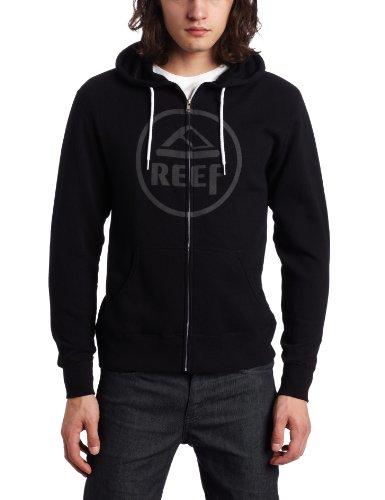 Reef Vintage Circle Zip Men's Sweatshirt Black Small