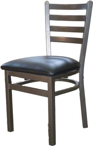 manufacturing sl2160sv blk metal frame silvervein ladderback dining