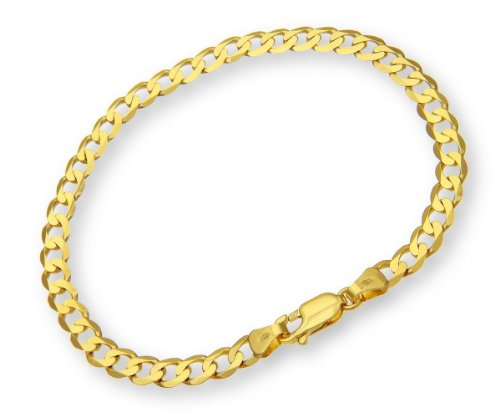 ChainCo 9ct Yellow Gold 4.1g Curb Bracelet of  19cm/7.5 Inch Length and  4.7mm Width