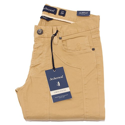 2096Q pantalone JECKERSON ocra pantalone uomo pant men [30]