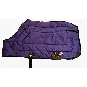 600D Close Front Medium Weight Winter Horse Blanket Purple