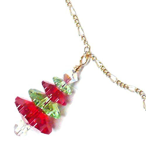 red-and-green-austrian-swarovski-crystal-christmas-tree-chain-necklace-sterling-silver-14-kt-gold-fi
