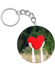 Love Heart | ShopTwiz Printed Circle Key Ring