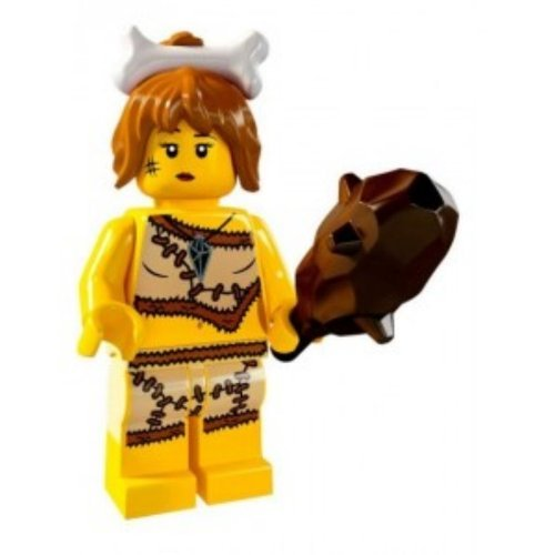 LEGO Minifigures Series 5 Cave Woman COLLECTIBLE Figure pesky saber-toot smashes rocks - 1