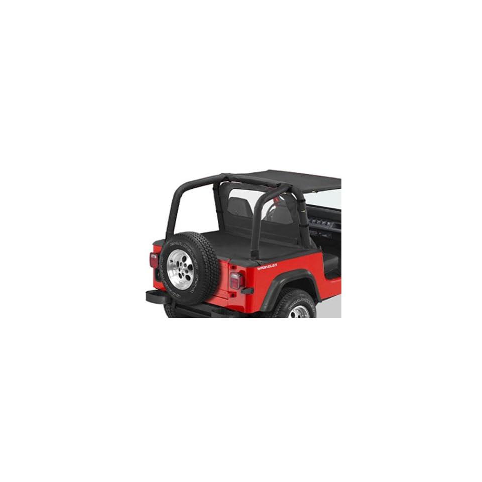 BesTop 90008 15 Jeep Wrangler Duster Deck Cover   YJ   In Black Denim