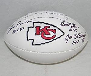 Len Dawson Emmitt Thomas Jan Stenerud Signed Kansas City Chiefs Hof Football - JSA... by Sports Memorabilia