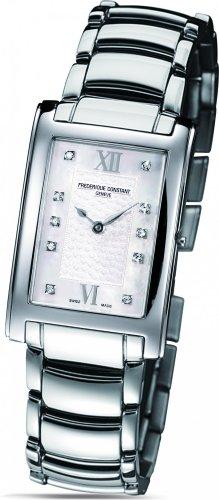 Frederique Constant Geneve Carree FC200WHDC26B Reloj elegante para mujeres con diamantes genuinos