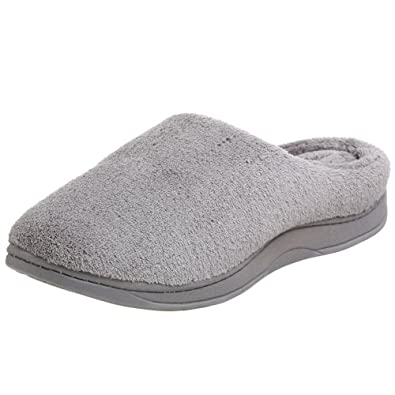 Dearfoams Women's DS626 Slipper,Seal Grey,6 M