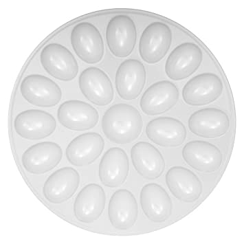 White Melamine Egg Tray