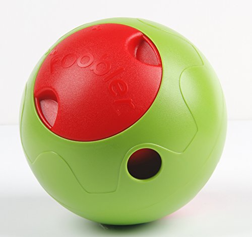 おやつボール コロわん!Foobler (緑×赤) ベルを合図にボールにじゃれると おやつが出てくる ハイテクトドッグシッター