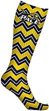 Pace University Setters Socks Chevron Design pair