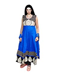 Frenchxd Women Stylish Anakali Salwar Kameej Set(Blue)