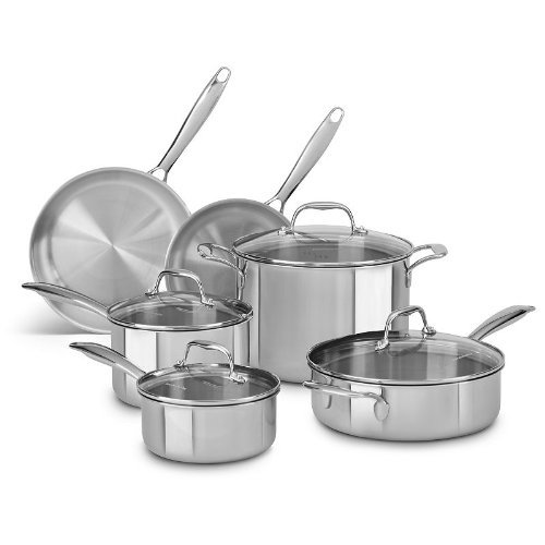 Kitchenaid Kcts10St 10-Piece Cookware Set front-130222