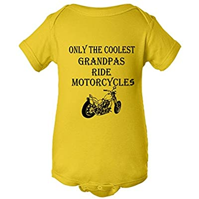Only The Coolest Grandpas Ride Motorcycles Bike One Piece Baby Bodysuit
