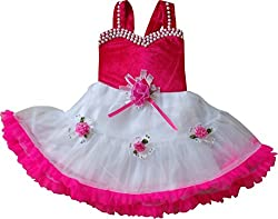 Cute Fashion Kids Girls Baby Princess Pink Party Wear Flower Dresses Skirt Clothes 6 - 12 Months