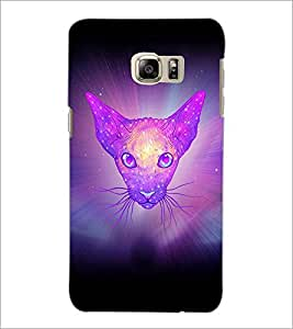 PrintDhaba Cat D-3461 Back Case Cover for SAMSUNG GALAXY NOTE 5 EDGE (Multi-Coloured)