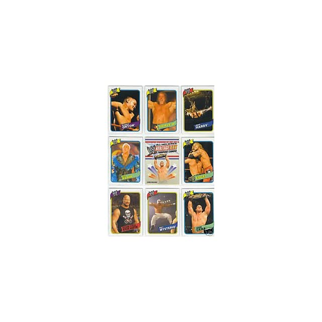 2007 Topps Heritage III  WWE Wrestling Trading Card Set  90 Card Hand Collated set features WWE Superstars past and Present including HHH, John Cena, Ric Flair, Undertaker, Stone Cold Austin, Randy Orton, WWE Divas and Many More Superstars Each Set Ships