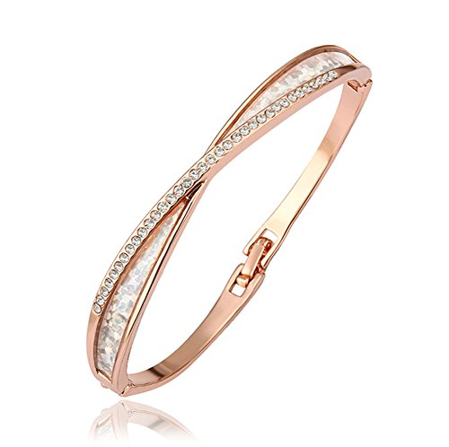 Women Bracelet,Heshun 18K Rose Gold Plated