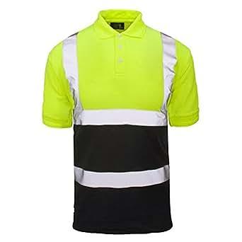 Forever 2 tone hi viz collar safety work high visibility for High visibility safety t shirts