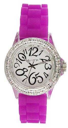 Jet Set J56904-610 - Reloj analógico para mujer de caucho Resistente al agua blanco