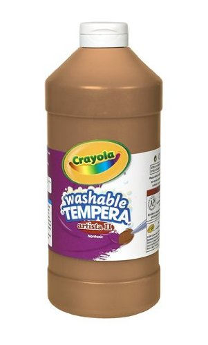 Crayola Tempera Washable Paint 32-Ounce Plastic Squeeze Bottle, Brown - 1