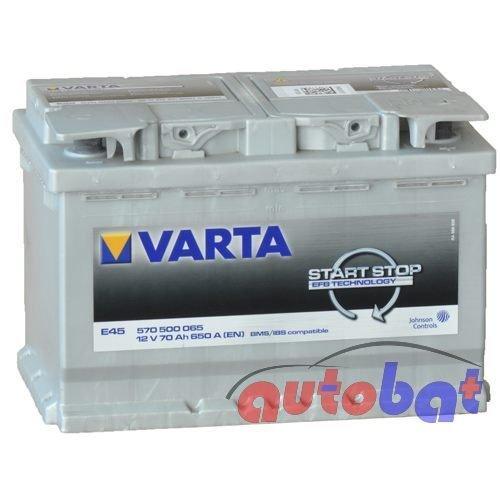 Varta E45 12V 70Ah 650 A(EN) Start
