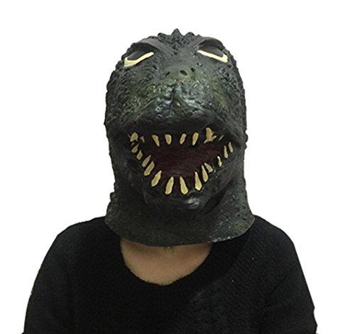 [Arelang Halloween Head mask Cosplay Props for Godzilla aduit mask] (Real Godzilla Costume)