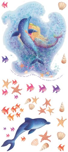RoomMates YH1312M Mermaid Peel & Stick Wall Decals