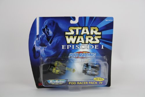 Star Wars Micro Machines Episode I Pod Racer Pack IV - High-Speed Rolling Wheels! - 1